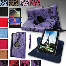 360 Degree Rotating Case Cover W/ Build-in Stand For Google Nexus 7 ASUS 1st gen