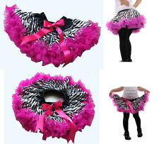 Baby Girls Zebra Princess Ballet Tutu Dress Kids Dance Summer Beach skirt Age1-7