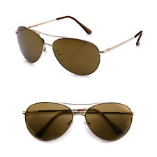Sports Large Metal Frame Square Aviator Spring Hinge Pilot Classic Sunglasses