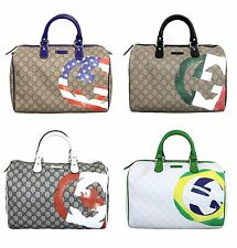 NEW Authentic Gucci Joy Boston Bag,American/Italian/Canadian/Brazil Flag,195451