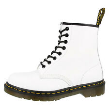 DR DOC MARTENS 1460 BOOTS 8-LOCH LEDER STIEFEL SCHUHE WHITE SMOOTH 10072100