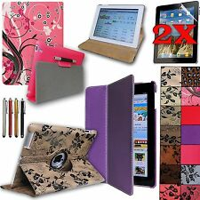 Rotating PU Leather Cover Case for Apple iPad 2 3 4 Tablet Accessory Bundle NEW