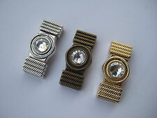 3/10 Sets Rhinestone Magnetic Clasp 10x2mm For Flat Leather Cord 5mm 10mm