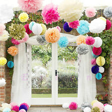 "New 10pcs 6"" 8"" 10"" 12"" 15"" Tissue Paper Pom Flowers Balls Wedding Party Decor"