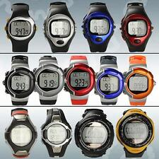 Pulse Heart Rate Monitor Stopwatch Calorie Counter Exercise Solar Power Watch