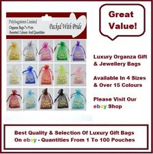 PREMIUM ORGANZA BAGS - 7cm x 9cm - WEDDING FAVOURS / JEWELLERY POUCHES / GIFTS