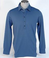 Nike Golf Tour Premium Dri Fit Blue Slim Fit Long Sleeve Polo Shirt Mens NWT