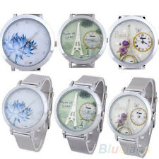 Fashion Women's Durable Stainless Steel Round Dial Mesh Quartz Wrist Watch BDBU