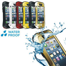 LOVE MEI Aluminium Metal Protective Bumper Water Proof Case For iPhone 5/5S 4 5C