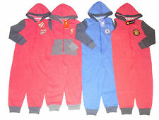 BOYS PYJAMAS ONESIE ALL IN ONE CHELSEA LIVERPOOL ARSENAL & MANCHESTER UNITED