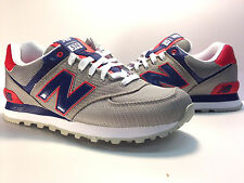 ML574PPG NEW BALANCE 574 PASSPORT CLASSIC GREY/NAVY-RED MENS SZ 8-12 US LIMITED