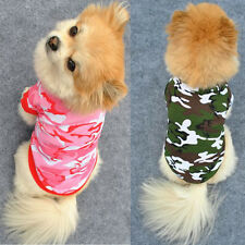 XS-L Pet Dog Vogue Camo Clothing Hoody Apparel Pup Doggy Camouflage Coat T-shirt