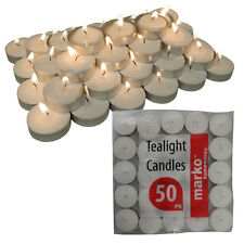 WHITE TEALIGHTS CANDLES UNSCENTED NIGHT TEA LIGHT CANDLE INTERIOR DECOR