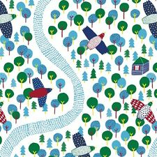 By HALF YARD Cloud9 OVER THE FOREST 1093 Fabric ORGANIC Cotton