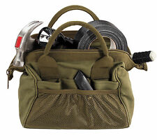 New GI Style Cotton Canvas Platoon Mechanics Wide Mouth Tool Bag Plumber Tote