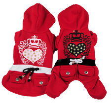 Good Small Dog Pet Clothes Apparel Red Jumpsuit&Dress For Boy&Girl Dog Sz XS-XL