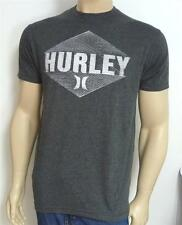 Hurley One & Only Grid Lock Tee Mens Charcoal Gray Premium Fit Shirt New NWT