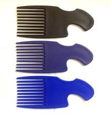 Afro Comb Detangler Detangling Wide Teeth Hair Brush Unisex Black Blue Purple