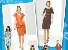SEWING PATTERN Simplicity 1798 Misses Project Runway DESIGNER FITTED DRESSES