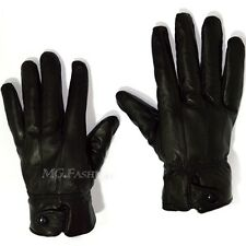 Fashion Men Winter Leather Driving Motorcycle Biker Full Finger Warm Gloves