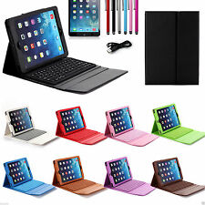 For Apple iPad Air 2 iPad 5 Wireless Bluetooth Keyboard with Leather Case Cover