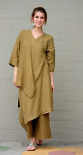 BRYN WALKER Linen Lagenlook  ZENA TUNIC Long Artsy Duster Top S M L XL  QUINOA
