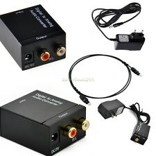 Digital Optical Coaxial Toslink to Analog Audio Converter Adapter RCA L/R B20E