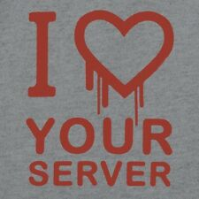 Brand New I HEARTBLEED YOUR SERVER Shirt, Internet Security, OpenSSL TTL, Hacker