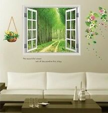 Removable 3D Window Beautiful scenery Wall Stickers art Mural Decal Wallpaper
