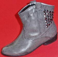 NEW Girls Youth  RAMPAGE WESTERN SHORTIE Gray Mid Ankle Fashion Casual Boots