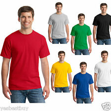 New Mens T-Shirt Crew Neck Blank Basic Plain TEE Short Sleeve Casual Cotton Tops