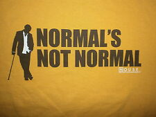 HOUSE NORMAL IS NOT NORMAL T SHIRT Hugh Laurie Hospital TV Show Dr MD Gregory