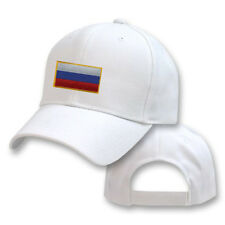 RUSSIA RUSSIAN WHITE FLAG COUNTRY EMBROIDERY EMBROIDED CAP HAT