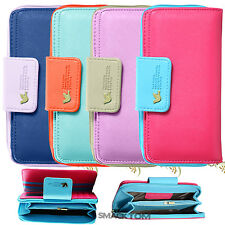 Luxury Stylish PU Leather Pouch Wallet Case Cover For Samsung Galaxy S4 i9500