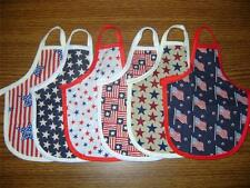 Patriotic Stars Stripes Flags 4th of July Dish Soap Bottle Apron Many Designs