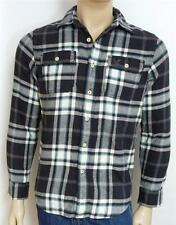 American Eagle Outfitters AEO Flannel Charcoal Gray Plaid Button Up Shirt NWT