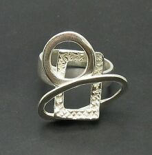 R000613 STYLISH STERLING SILVER RING SOLID 925 NEW
