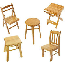 Children Kid Small Wooden Stool Chair Garden Breakfast Foot Table Step Legs Baby