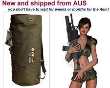 New 70L OZtrail Extra Large Heavy Duty Canvas Military Army Duffle Bag Rucksack