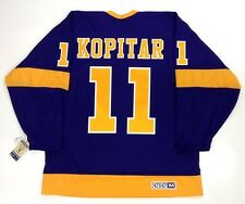 ANZE KOPITAR LOS ANGELES KINGS VINTAGE CCM PURPLE JERSEY