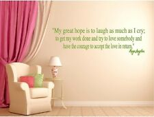 Maya Angelou Great Hope Laugh Accept Love Inspirational Wall Quote Vinyl Decal