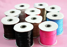 Waxed Cord 2mm Jewellery Making Cord, Thread & Wire Length 10M  in 10 colors