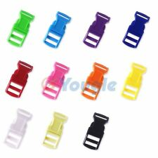"1/2"" Colored Contoured Curved Side Release Buckles Webbing Straps For Paracord"