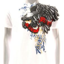 a56w Artful T-shirt M L XL  XXL Tattoo Skull Streetwear Eagle Rock Punk Graffiti