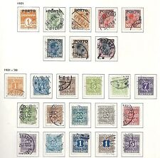 Denmark stamps 1921 YV Due 1-18+22-26  CANC  VF  HIGH VALUE!