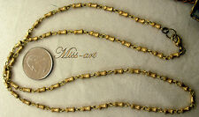 Faceted Logs Links SOLID BRASS Yellow Vintage Chain Necklace ALL SIZES Miss-art