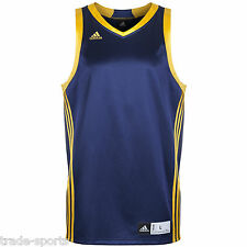 ADIDAS ESSENTIAL MENS EU SIZE L XL XXL BLUE BASKETBALL VEST JERSEY SHIRT NEW