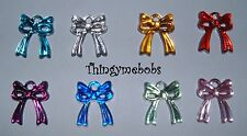 14mm ACRYLIC BOW BUTTONS/EMBELLISHMENTS - COLOUR OPTIONS - CRAFTS/SEWING