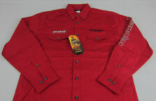 Mens NWT Wrangler PBR Bull Riding Long Sleeve Red Western Shirt Tall Size LT XLT