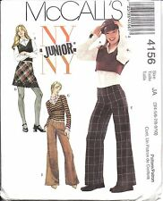 4156 UNCUT Vintage McCalls Sewing Pattern Teen Juniors Tops Skirt Pants NY NY FF